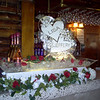 Double Hearts Wedding Ice Luge with names