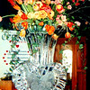Heart shaped vase ice sculpture. Can write Happy Mother's Day in heart