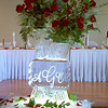 Modern vase ice carving