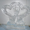 Intertwining Hearts ice sculpture