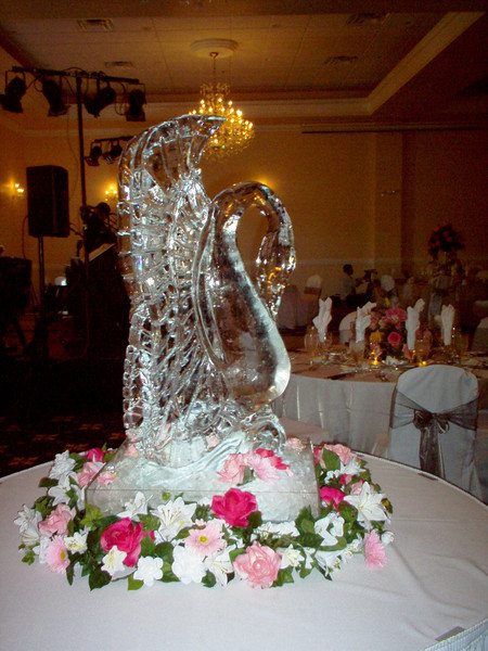 Swan Ice Sculpture