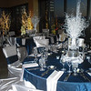 Vase shaped table centerpieces