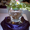 Orb with flowers center piece