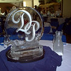 Initials monogram ice center piece