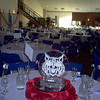 Wild Cats table ice centerpieces