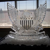 American Eagle Emblem Ice Sculpture for Promotion at F.E. Warren Air Force Base in Cheyenne
