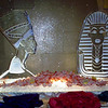 Egyptian themed ice sculptures