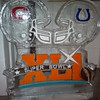 Super Bowl themed Ice Sculpture
