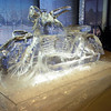 3 block motorcycle ice sculpture