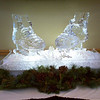 Ice Skates sculpture for Winter theme party