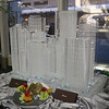 Ice sculpture of the 14 tallest building buildings in downtown Denver Colorado