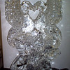 Love Birds on Snowflake Ice Sculpture