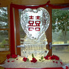 Love, Peace Happiness Chinese letters Ice Sculpture