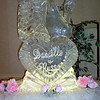 Swan over Heart Ice Sculpture with names