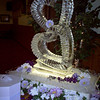 Stacked Hearts Ice Sculpture with open centers