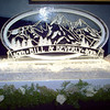 Long's Peak Ice Sculpture with Name Banner