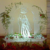 2-d Bride and Groom under arch ice sculpture