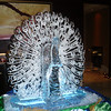 3 Block Peacock Ice Sculpture