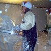 Kevin carving horse at Thornton Winterfest