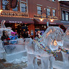 Children playing on the Pumpkin Carriage and Horses at Cripple Creek Colorado