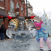 Armour ice carving at Cripple Creek Colorado