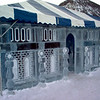 Castle ice sculpture in Frisco Colorado