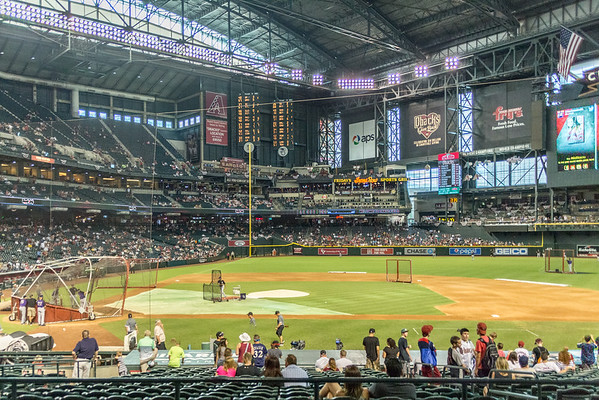 Dbacks Game and Fireworks July 04 2015