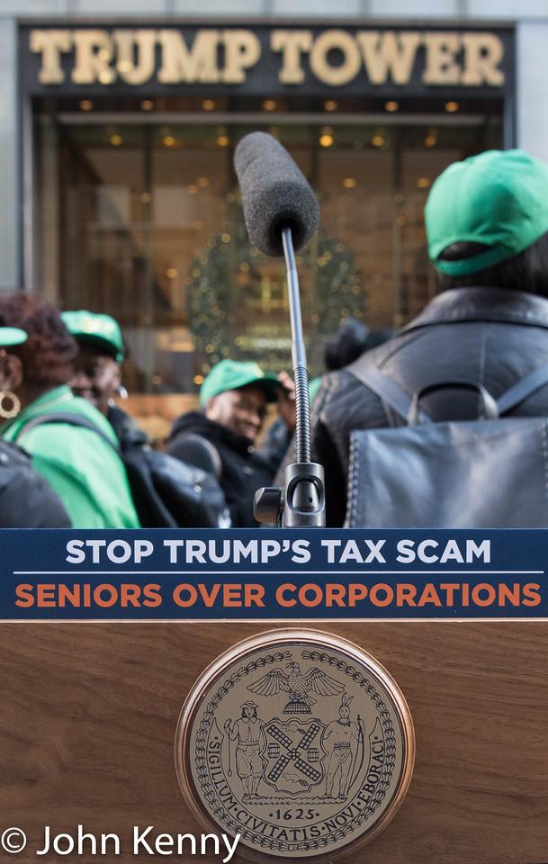 de Blasio Trump Tower Protest 11-21-17