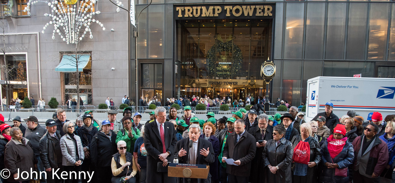 de Blasio Trump Tower Protest 11-21-17