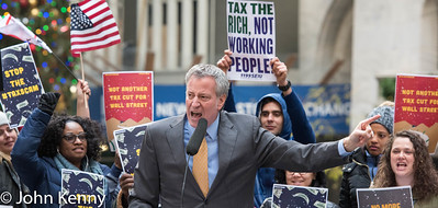 de Blasio Wall Street Rally 12/2/17