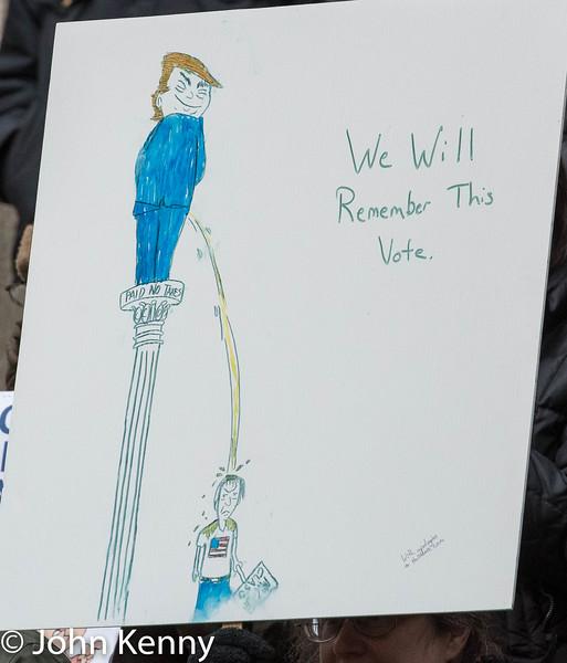 de Blasio Wall Street Rally 12/2/17