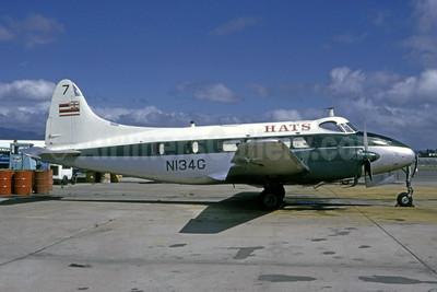 HATS (Hawaiian Air Tour Service) de Havilland DH.104 Dove N134G (msn 04305) HNL (Bruce Drum). Image: 104981.