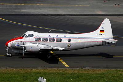 LTU International Airways de Havilland DH.104 Dove D-INKA (msn 04011) DUS (Ariel Shocron). Image: 902759.