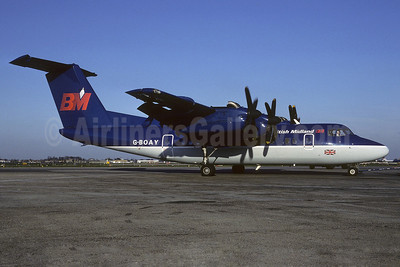 British Midland Airways-BM de Havilland Canada DHC-7-110 G-BOAY (msn 112) LHR (Richard Vandervord). Image: 905809.