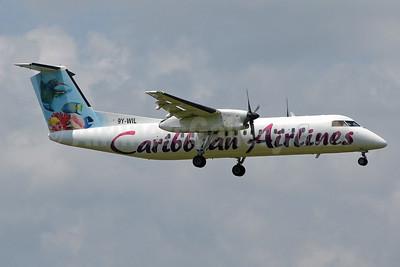 Caribbean Airlines Bombardier DHC-8-311 9Y-WIL (msn 489) (Caribbean Aquatic) POS (Nigel Steele). Image: 900948.