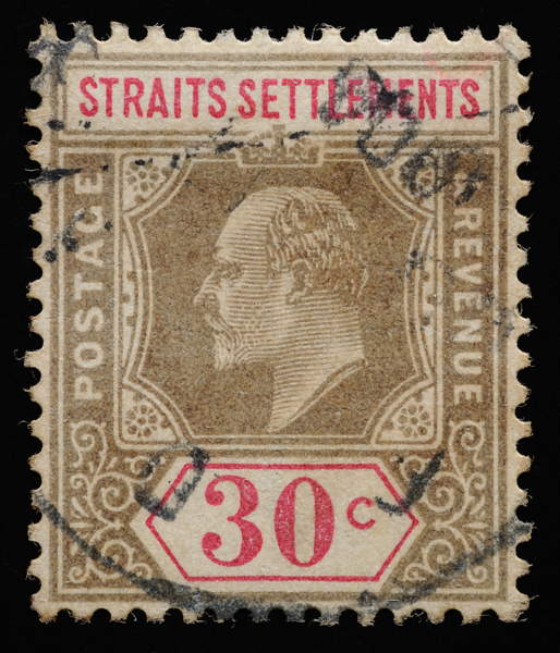 Straits Settlements KEVII Imperium definitive stamp 30c