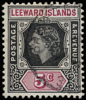 Leeward Islands Imperium keyplate Queen Elizabeth II 1954 5c black and purple SG131