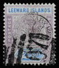 Leeward Islands Queen Victoria 1897 Sexagenary overprint SG11 with A07 obliterator