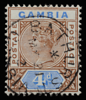 Gambia Queen Victoria postage keyplate SG42 1898 postmarked Bathurst