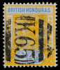 British Honduras Queen Victoria postage keyplate 24c SG60a with K65 obliterator (probably forged)