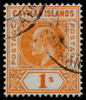 Cayman Islands 1s Imperium KEVII SG12 1905