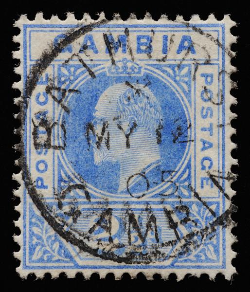 Gambia King Edward VII postage keyplate SG48 1902 postmarked Bathurst