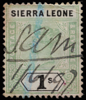 Sierra Leone unified keyplate Queen Victoria 1s green and black 1896 SG50