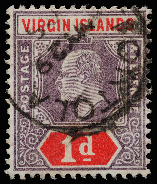 British Virgin Islands imperium KEVII 1d SG55 1904