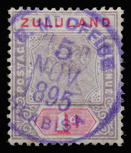 Zululand Queen Victoria Imperium SG21 1d with Hlabisa rubber stamp