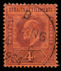 Straits Settlements KEVII Imperium definitive stamp 4c