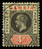 Gambia King George V postage keyplate SG92a 4d with registration mark