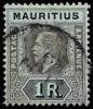 Mauritius 1R SG201 die I 1917 KGV unified keyplate