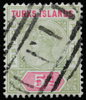 Turks Islands Queen Victoria 5d SG72 1894 Imperium postage keyplate