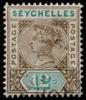 Seychelles Queen Victoria Imperium postage keyplate 12c die II SG23 1893